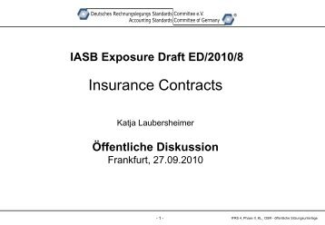 IASB ED/2010/8 Insurance Contracts - DRSC