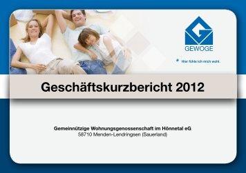 Download - GEWOGE im Hönnetal eG Menden Lendringsen