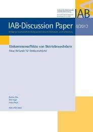 Einkommenseffekte von Betriebswechslern: Neue Befunde für ... - IAB