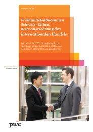 Freihandelsabkommen Schweiz–China: neue Ausrichtung ... - PwC