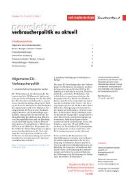 Newsletter Verbraucherpolitik EU aktuell 13/2013 - vzbv