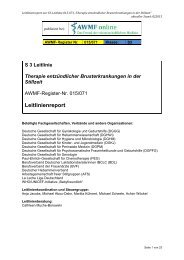 Leitlinienreport - AWMF