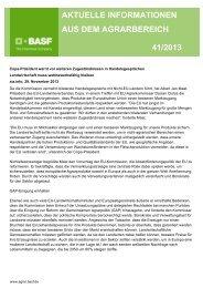 aktuelle informationen aus dem agrarbereich 41/2013 - BASF ...