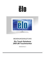 Elo Touch Solutions 2401LM Touchmonitor