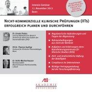 Nicht-kommerzielle klinische Prüfungen (IITs) - AH Akademie für ...