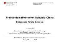 Präsentation Botschafter Dr. Christian Etter - VSIG: Handel Schweiz