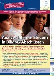 Analyse latenter Steuern in BilMoG-Abschlüssen - Finanz ...