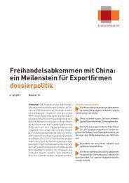 Freihandelsabkommen mit China: ein Meilenstein ... - Economiesuisse