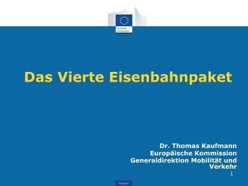 Dr. Thomas Kaufmann, Europäische Kommision