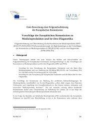Medizinprodukten und In-vitro-Diagnostika: erste ... - Europa