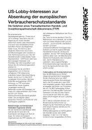 Ãœbersicht von Statements US -amerikanischer ... - Greenpeace