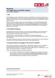 Richtlinie 4.2 Legal Advice and Risk Analysis - Go International