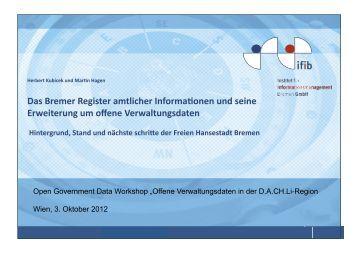 Das Bremer Register amtlicher Informajonen und seine ... - ifib