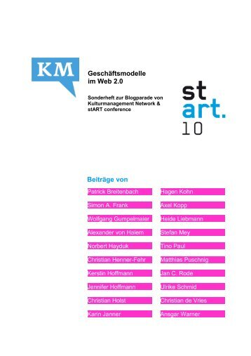 """""""Geschäftsmodelle im Web 2.0"""" – Sonderheft zur Blogparade ... - ifib"""