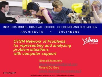 OTSM Network of Problems for representing and analyzing ... - IFIP