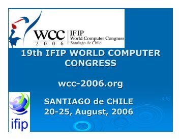 WCC 2006 report - IFIP