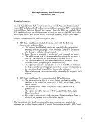 Digital Library Report (pdf) - IFIP
