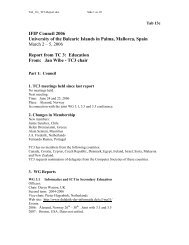 TC 3 - IFIP