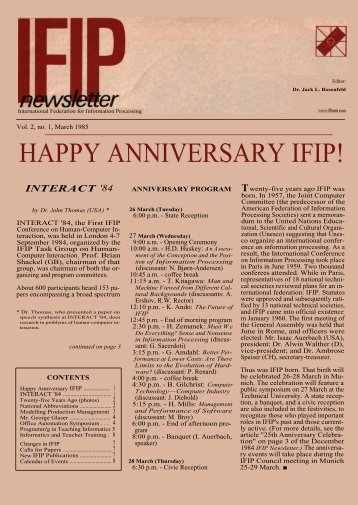 March 1985 - IFIP