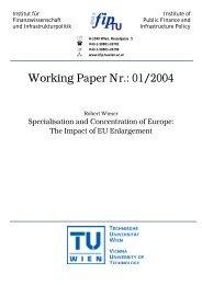 Working Paper Nr.: 01/2004 - IFIP