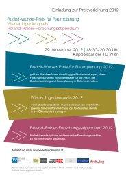 Download Einladung (157 KB) - Kammer der Architekten und ...
