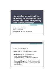 Literatur-Recherchetechnik und Vorstellung der wichtigsten ... - IFIP