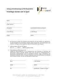 Freiwilliges Soziales Jahr im Sport - Bremer Sportjugend