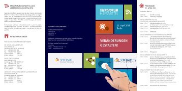 Programm - Spectaris