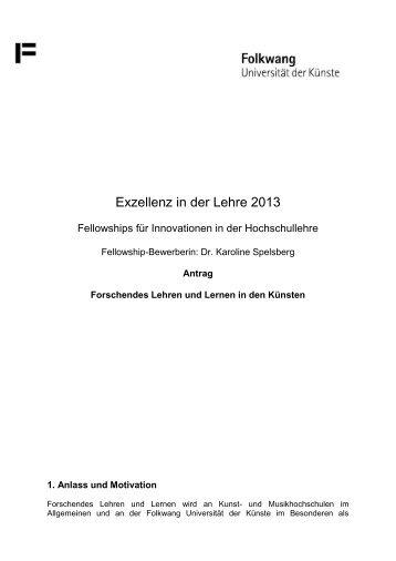 Exzellenz in der Lehre 2013 - Stifterverband für die Deutsche ...