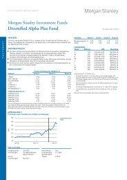 Diversified Alpha Plus Fund Morgan Stanley ... - fundinfo.com
