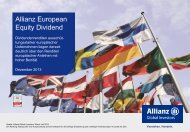 Allianz European Equity Dividend - A - EUR - Allianz Global Investors