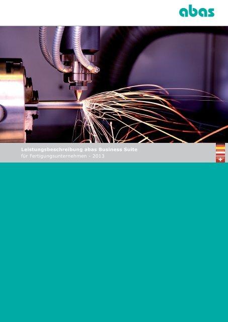 Leistungsbeschreibung abas Business Suite - ABAS Software AG