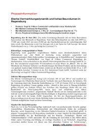 18. Juni 2013: Starke Vermarktungsdynamik und ... - Engel & Völkers