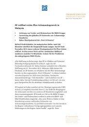 Pressetext herunterladen (PDF, 98 KB) - ZF Friedrichshafen AG