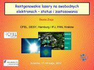 Rentgenowskie lasery na swobodnych elektronach – status i ...