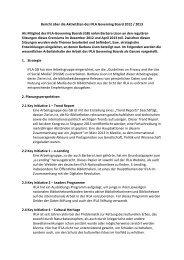 Bericht über die Aktivitäten des IFLA Governing Board 2012 / 2013