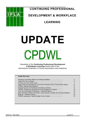 June issue of the CPDWL - IFLA