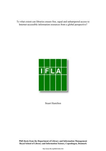 To what extent can libraries ensure free, equal and unhampered - IFLA