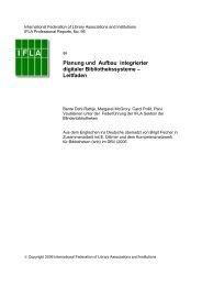 Planung und Aufbau integrierter digitaler Bibliothekssysteme ... - IFLA