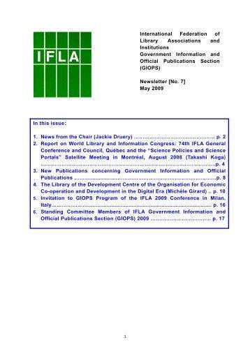 May 2009 - IFLA