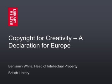Copyright for Creativity – A Declaration for Europe - IFLA