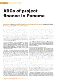 ABCs of project finance in Panama - IFLR1000