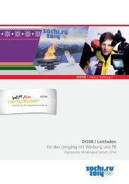 DOSB Leitfaden für den Umgang mit Werbung und PR