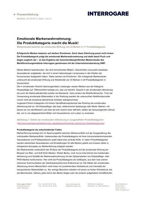 Pressemitteilung als PDF - Interrogare GmbH