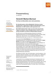 Pressemeldung - GfK