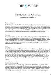 Mulitmedia-Werbewirkung - Methode - Axel Springer MediaPilot