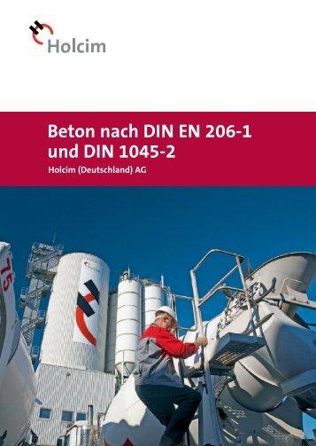 Beton nach DIN EN 206-1 und DIN 1045-2