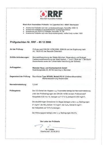 Emissionsblatt PO 57 - Wamsler GmbH