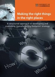 Making the right things in the right places - Institute for ...