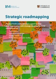 Strategic roadmapping - Institute for Manufacturing - University of ...